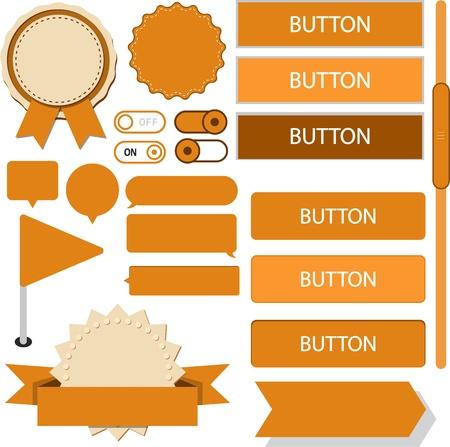 gibbose: illustration of orange plain web elements