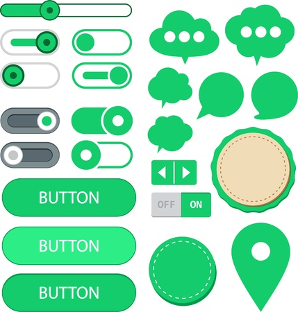 illustration of green plain web elements  Illustration