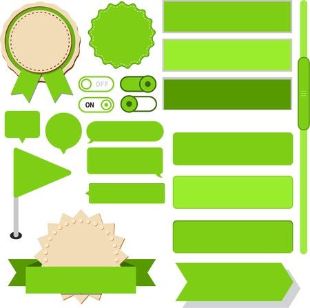 gibbose: illustration of green plain web elements Illustration