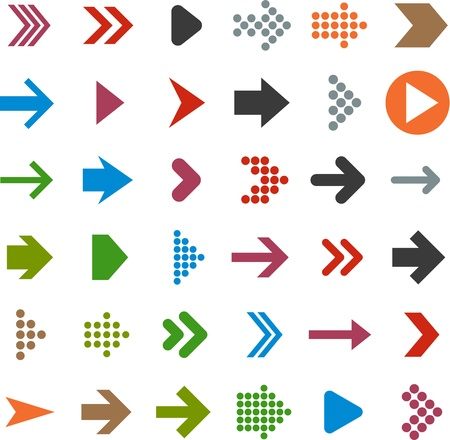 green arrows: illustration of plain arrow icons