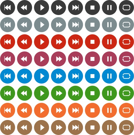 illustration of plain round player icons Stock Vector - 18384455