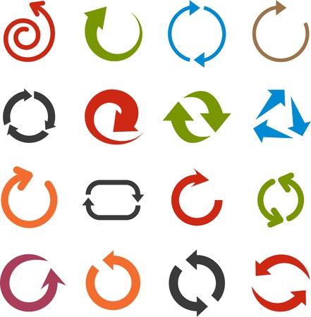 refrescarse: ilustración de iconos de flecha simples