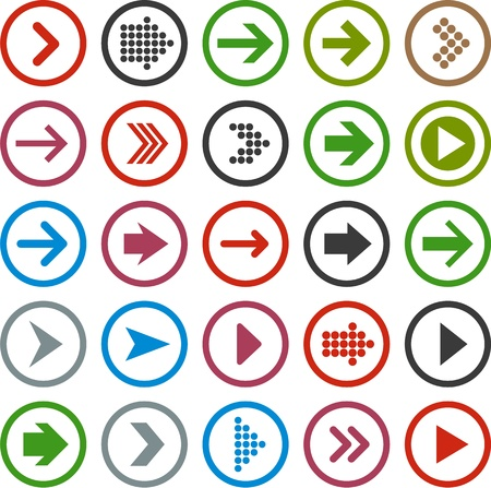illustration of plain round arrow icons Vector