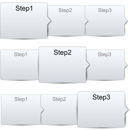 illustration of paper progress steps for tutorial Stock Vector - 18384431
