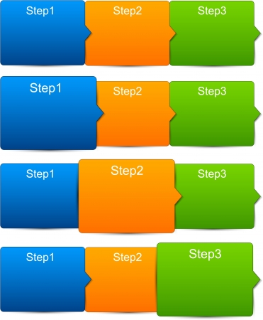 illustration of paper progress steps for tutorial Stock Vector - 18384433