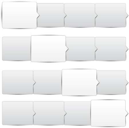 progress steps: Vector illustration of paper progress steps for tutorial. Eps10.  Illustration