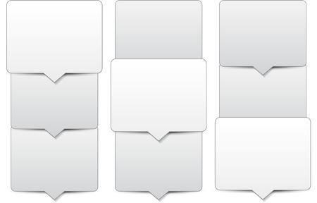 illustration of paper progress steps for tutorial.  Stock Vector - 18454581