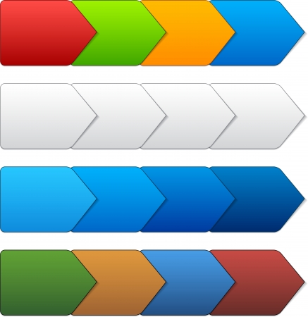 illustration of paper progress steps for tutorial. Stock Vector - 18454580