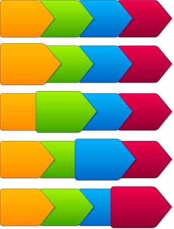 illustration of paper progress steps for tutorial.