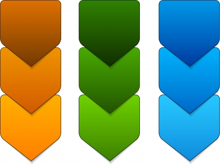 illustration of paper progress steps for tutorial. Stock Vector - 18454573