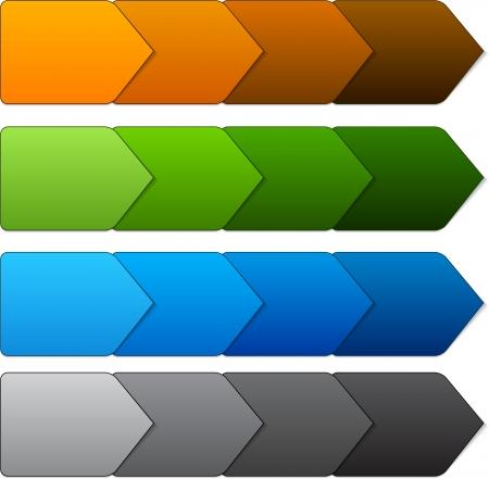 Vector illustration of paper progress steps for tutorial. Eps10. Stock Vector - 18517096