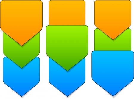 Vector illustration of paper progress steps for tutorial. Eps10. Stock Vector - 18517087