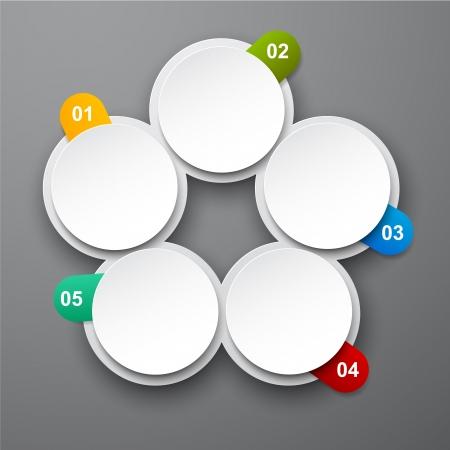 circulating: Vector illustration of circulation infographics template design. Eps10