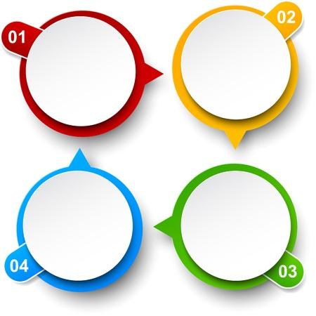 circulation: Vector illustration of circulation infographics template design  Eps10