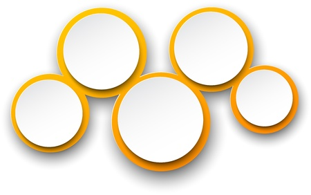five elements:  illustration of infographics template design.   Illustration