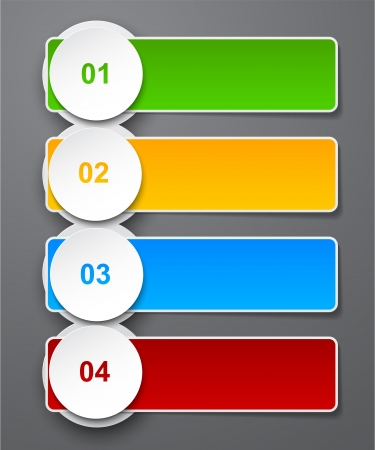 cuatro elementos: ilustraci�n del dise�o de la plantilla infograf�a.