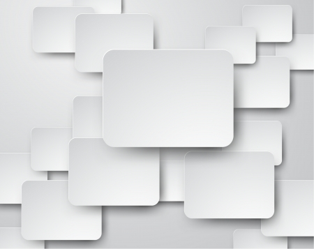 abstract background composed of white paper notes.  Vector