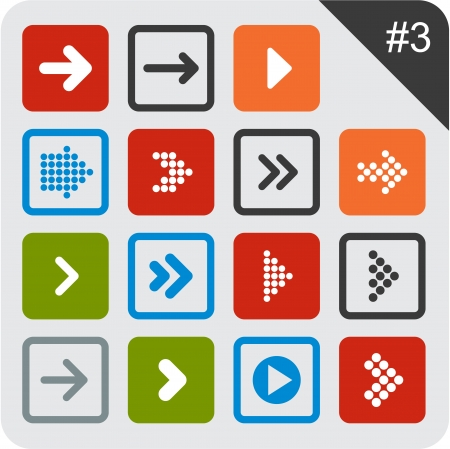 Vector illustration of plain square arrow icons  Eps10  Vector