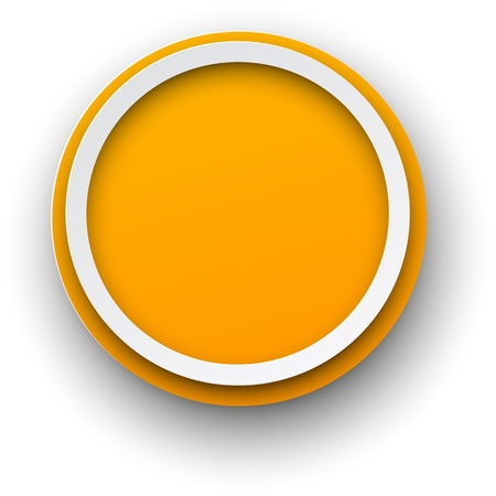 3d circle: Illustration of paper round speech bubble. 3d button