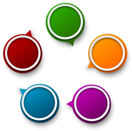 3d circle: Illustration of circulation info graphics template design.