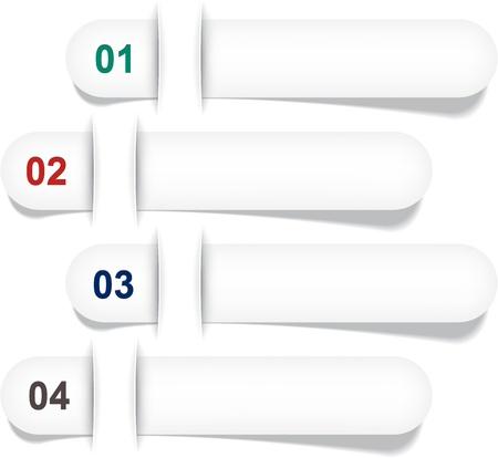 numeric: Vector illustration of numeric paper infographics template design. Illustration