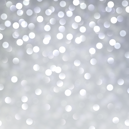 Silver defocused background. Bright bokeh.  Vector