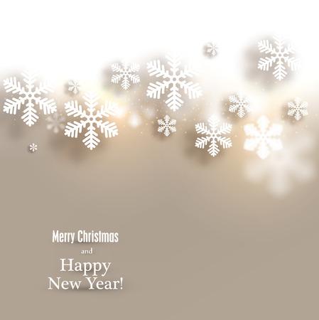 Winter background. Fallen defocused snowflakes. Christmas. Vector. Stock Vector - 22497812