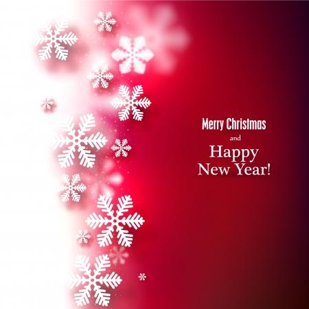 Winter background. Fallen defocused snowflakes. Christmas. Vector. Stock Vector - 22497818