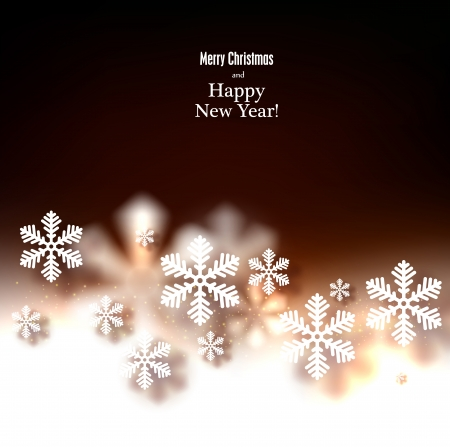 fallen: Winter background. Fallen defocused snowflakes. Christmas. Vector.  Illustration
