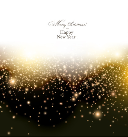 Glowing shiny brown christmas background.  Vector