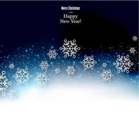 feriado: Fondo de invierno. Copos de nieve caídos. Navidad. Vectorial.