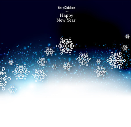 holiday background: Winter background. Fallen snowflakes. Christmas. Vector.