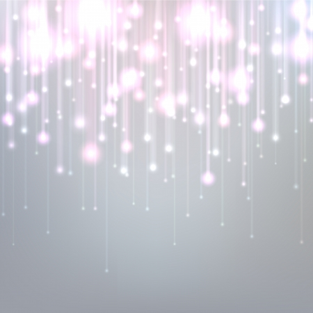 Silver defocused background with brigth sparkles. Vector illustration.   Vector