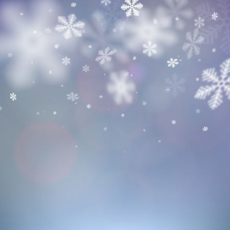 Winter background. Fallen defocused snowflakes. Christmas. Vector.    Vector