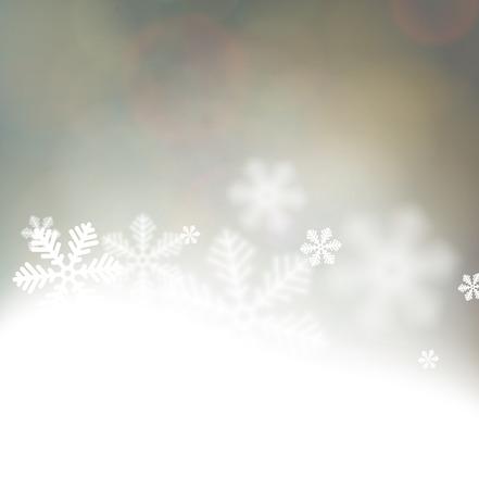 Winter background. Fallen defocused snowflakes. Christmas. Vector. Stock Vector - 22497859