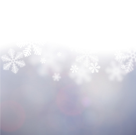 Winter background. Fallen defocused snowflakes. Christmas. Vector.   Stock Vector - 22497873