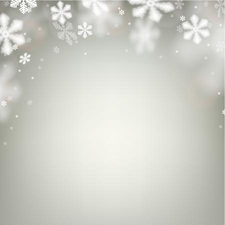 fallen: Winter background. Fallen defocused snowflakes. Christmas. Vector.