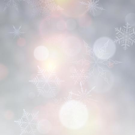 Levendige onscherpe achtergrond. Heldere bokeh met sneeuwvlokken. Vector illustratie.