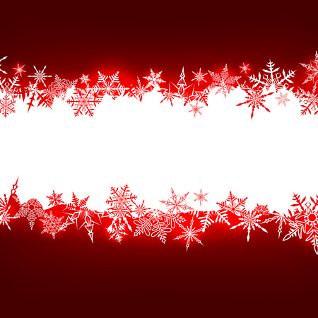 Winter red pattern with snowflakes. Christmas background for any text. Vector. Stock Vector - 22964281