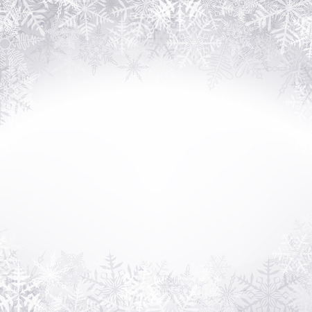 Winter pattern with crystallic snowflakes. Christmas background. Vector. Stock Vector - 23101823