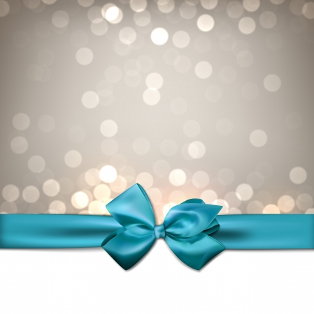 blue bow: Christmas sparkle background with blue bow.