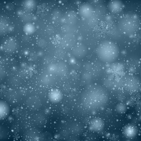 Winter dark blue background with crystallic snowflakes. Christmas decoration. Vector.   Vector