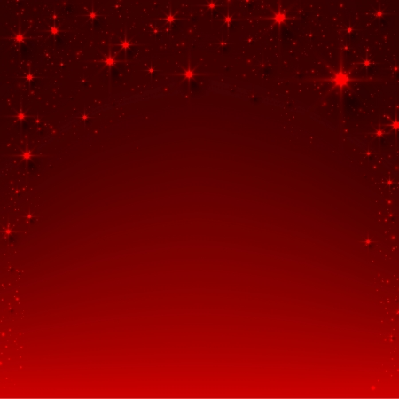 twinkles: Red christmas abstract texture background. Holiday illustration with stars and sparkles. Vector.