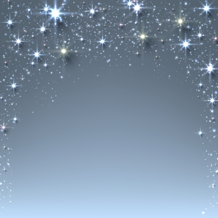 blink: Blue christmas abstract texture background. Holiday illustration with stars and sparkles. Vector.  Illustration