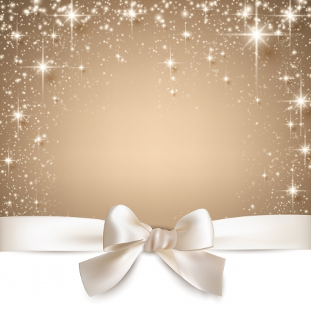 blink: Beige christmas abstract background. Holiday illustration with stars and sparkles. Vector.   Illustration