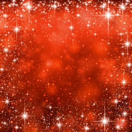 빨간색 겨울 추상적 인 배경입니다. 눈송이와 반짝 크리스마스 배경입니다. 벡터입니다. 일러스트