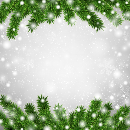 pine needles: Detailed frame with fir. Christmas