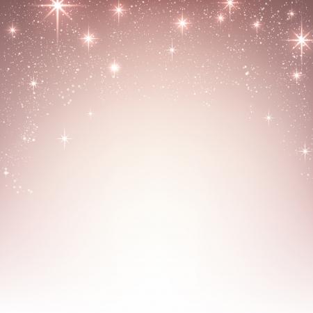 핑크 크리스마스 추상 질감 배경. 별과 반짝임 휴일 그림입니다. 벡터.