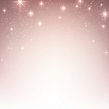 pink: Pink christmas abstract texture background. Holiday illustration with stars and sparkles. Vector.  Illustration