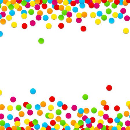 Kleurrijke viering achtergrond met confetti. Vector Illustratie.